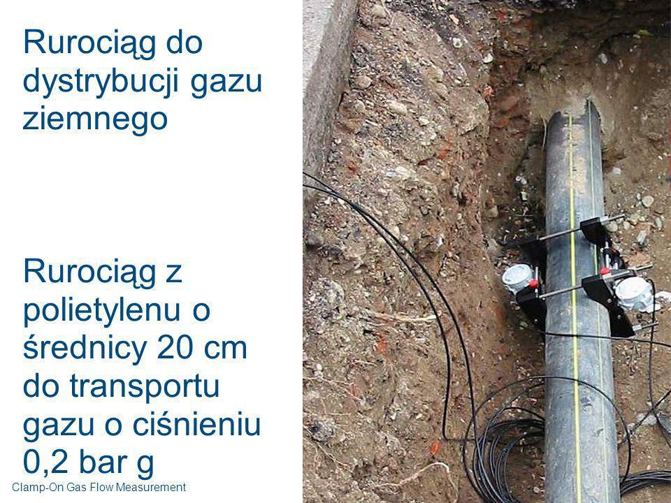 Rurociąg do dystrybucji gazu ziemnego Rurociąg z polietylenu o średnicy 20 cm do transportu gazu o ciśnieniu 0,2 bar g Clamp-On Gas Flow Measurement