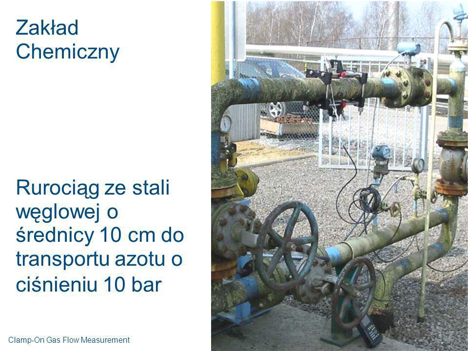 Zakład Chemiczny Rurociąg ze stali węglowej o średnicy 10 cm do transportu azotu o ciśnieniu 10 bar Clamp-On Gas Flow Measurement