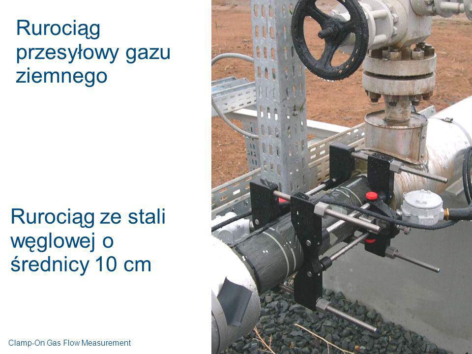 Rurociąg przesyłowy gazu ziemnego Rurociąg ze stali węglowej o średnicy 10 cm Clamp-On Gas Flow Measurement