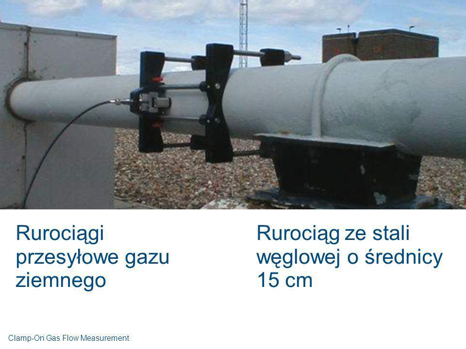 Rurociągi przesyłowe gazu ziemnego Rurociąg ze stali węglowej o średnicy 15 cm Clamp-On Gas Flow Measurement