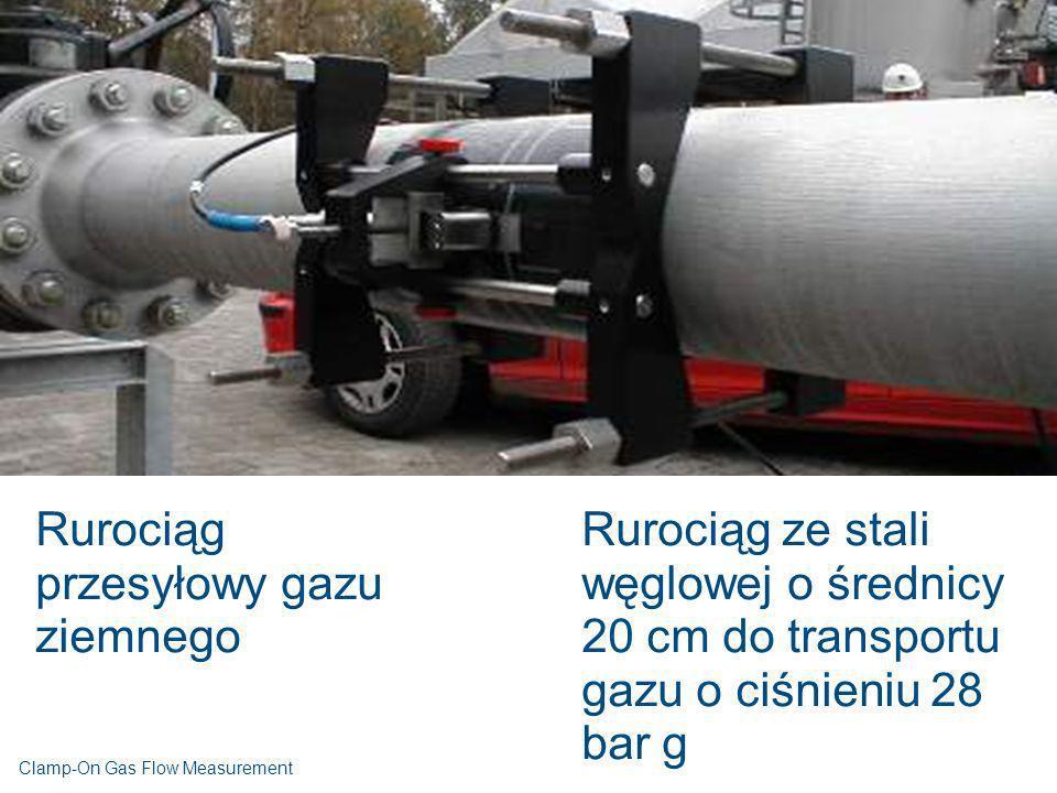 Rurociąg przesyłowy gazu ziemnego Rurociąg ze stali węglowej o średnicy 20 cm do transportu gazu o ciśnieniu 28 bar g Clamp-On Gas Flow Measurement