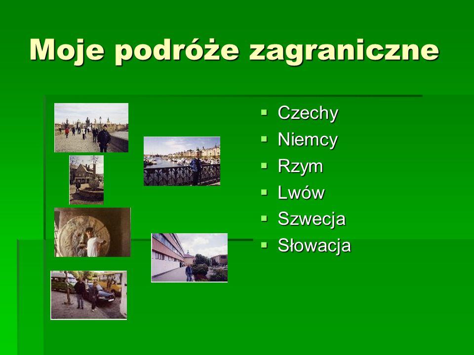 Moje podróże zagraniczne Czechy Czechy Niemcy Niemcy Rzym Rzym Lwów Lwów Szwecja Szwecja Słowacja Słowacja