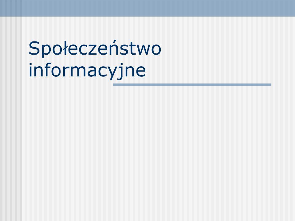 SPIS Spis Społeczeństwo informacyjne Internet wykorzystywany przez Polaków Internet wykorzystywany przez Polaków Usługi internetowe Zagrożenia e-przes