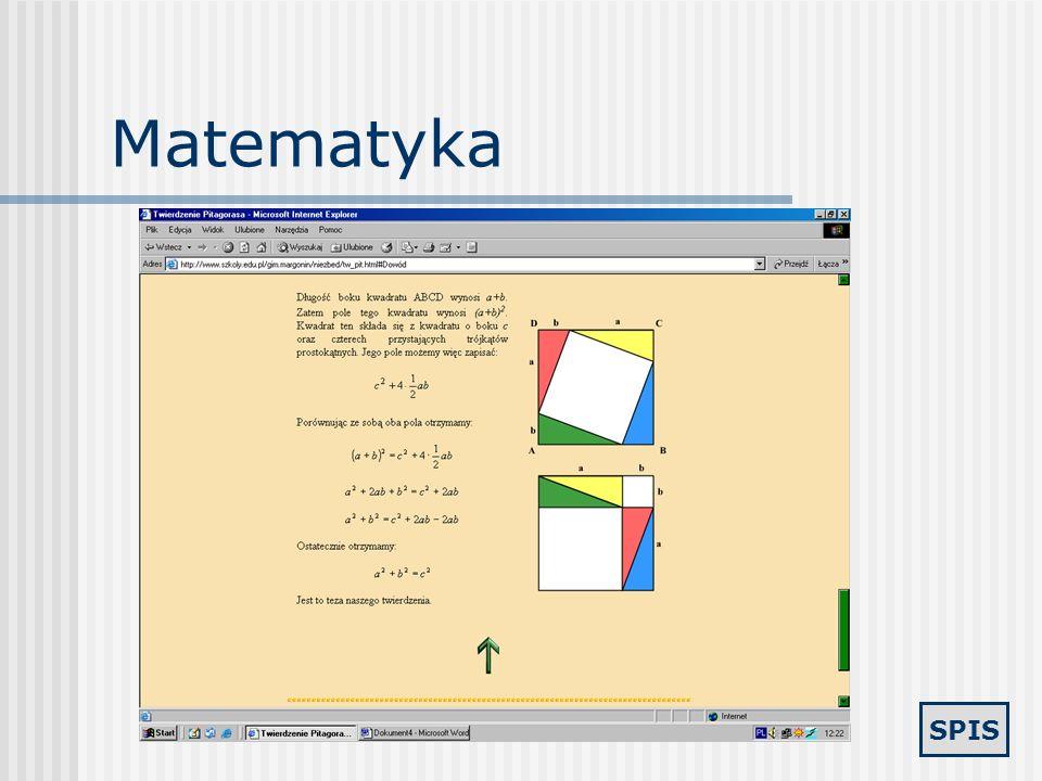 SPIS Matematyka - zbiory