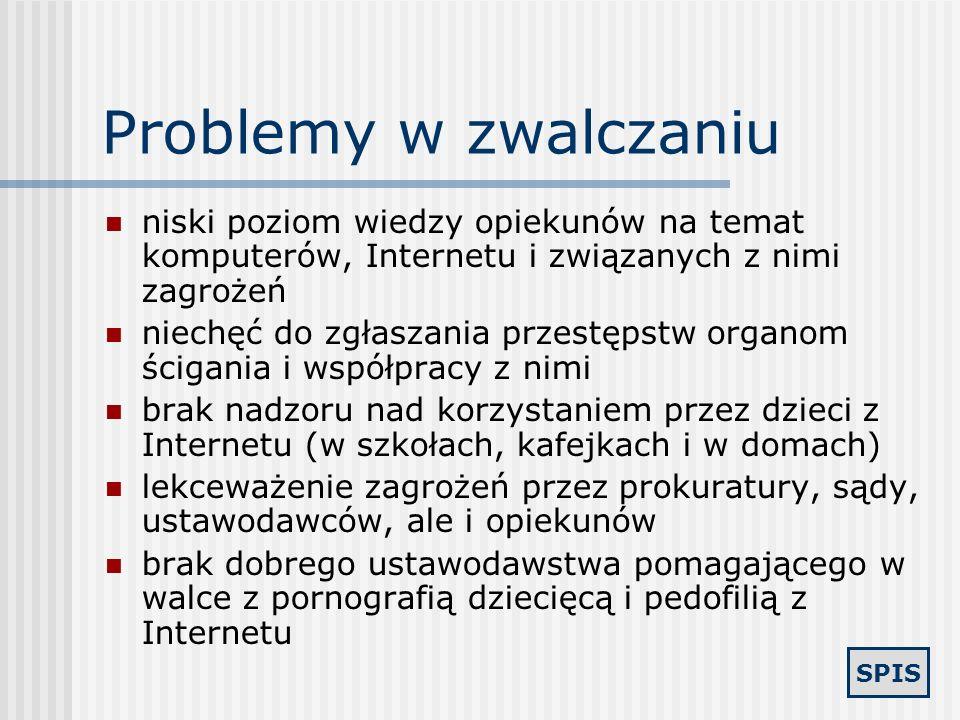 SPIS Problemy w zwalczaniu Prawo a Internet
