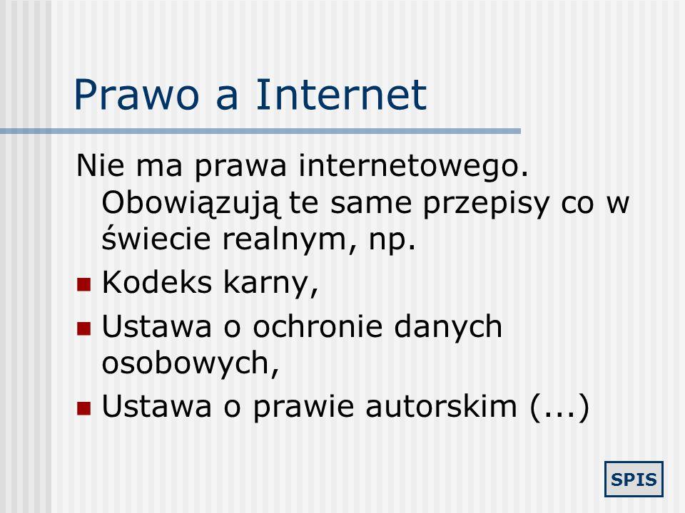 SPIS Internet bez nadzoru 81 % gimnazjalistów w Polsce korzysta z sieci bez żadnego nadzoru rodzicielskiego. 79 % dzieci i młodzieży londyńskiej korzy