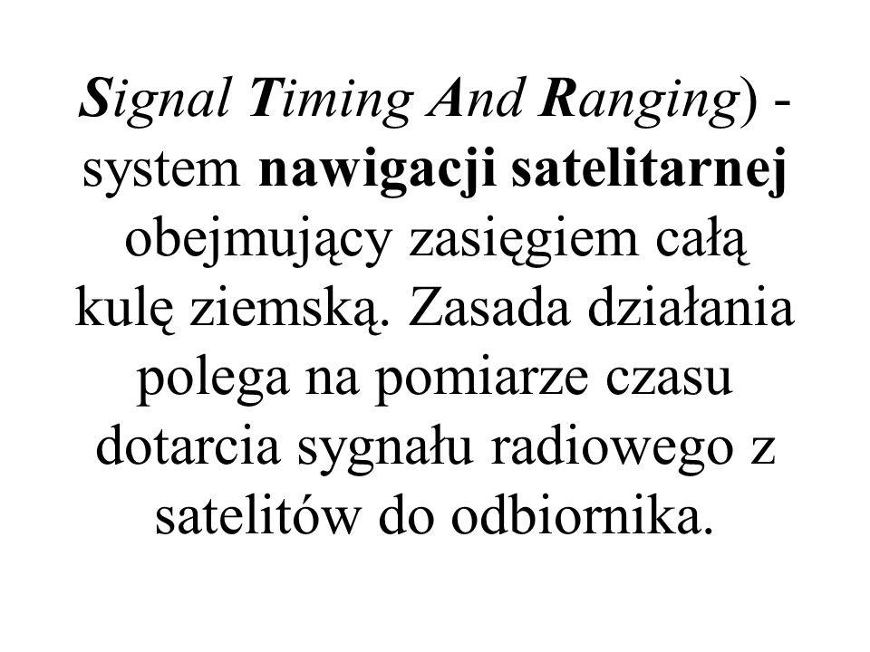 GPS-NAVSTAR (ang. Global Positioning System - NAVigation Signal Timing And Ranging) - system nawigacji satelitarnej obejmujący zasięgiem całą kulę zie