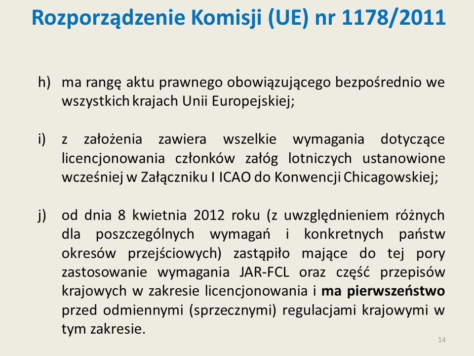 14 h)ma rangę aktu prawnego obowiązującego bezpośrednio we wszystkich krajach Unii Europejskiej; i)z założenia zawiera wszelkie wymagania dotyczące li