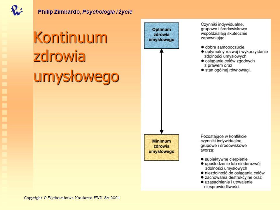 Perspektywy historyczne Pojawienie się modelu medycznego Pojawienie się modeli psychologicznych Philip Zimbardo, Psychologia i życie Copyright © Wydawnictwo Naukowe PWN SA 2004