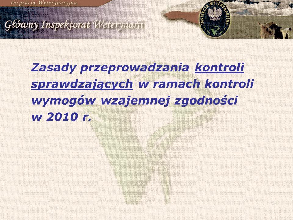 1 Zasady przeprowadzania kontroli sprawdzających w ramach kontroli wymogów wzajemnej zgodności w 2010 r.