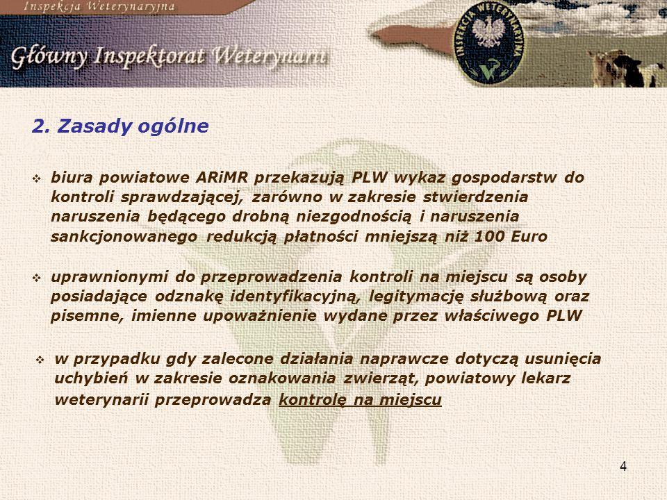 4 2. Zasady ogólne uprawnionymi do przeprowadzenia kontroli na miejscu są osoby posiadające odznakę identyfikacyjną, legitymację służbową oraz pisemne