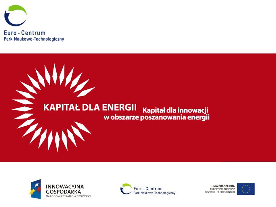 Utworzenie i wsparcie nowych przedsiębiorstw działających na bazie innowacyjnych pomysłów w dziedzinie odnawialnych źródeł energii oraz technologii energooszczędnych poprzez zapewnienie kapitału na inwestycje Cel projektu: