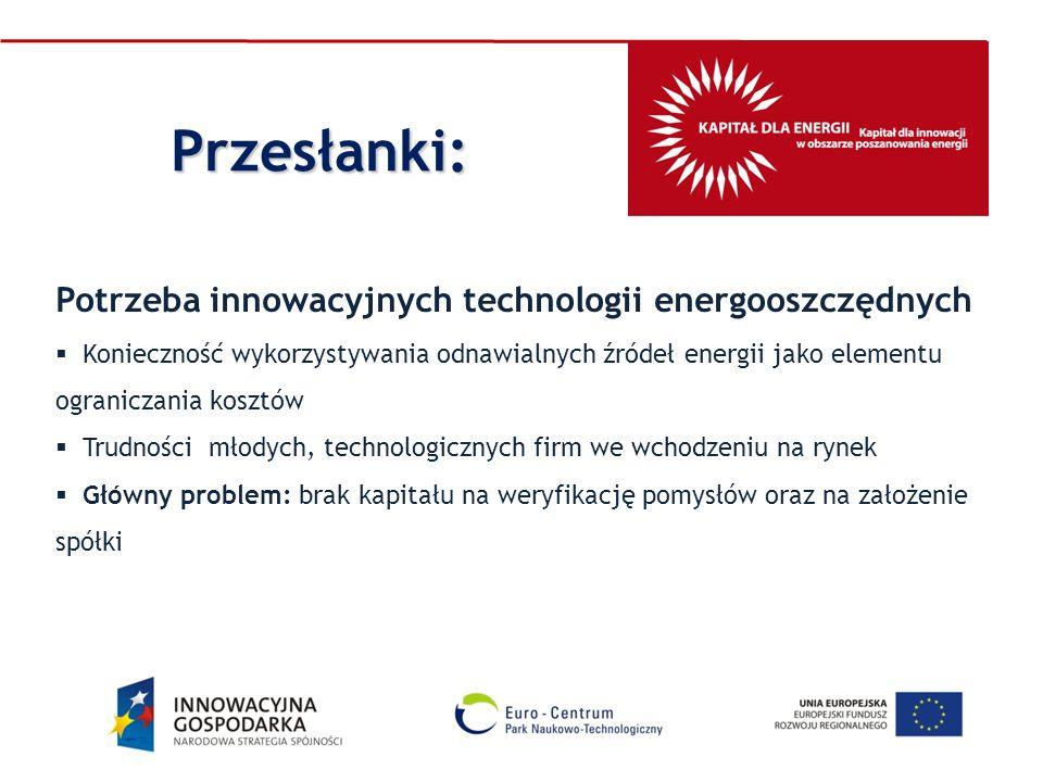 Potrzeba innowacyjnych technologii energooszczędnych Konieczność wykorzystywania odnawialnych źródeł energii jako elementu ograniczania kosztów Trudno