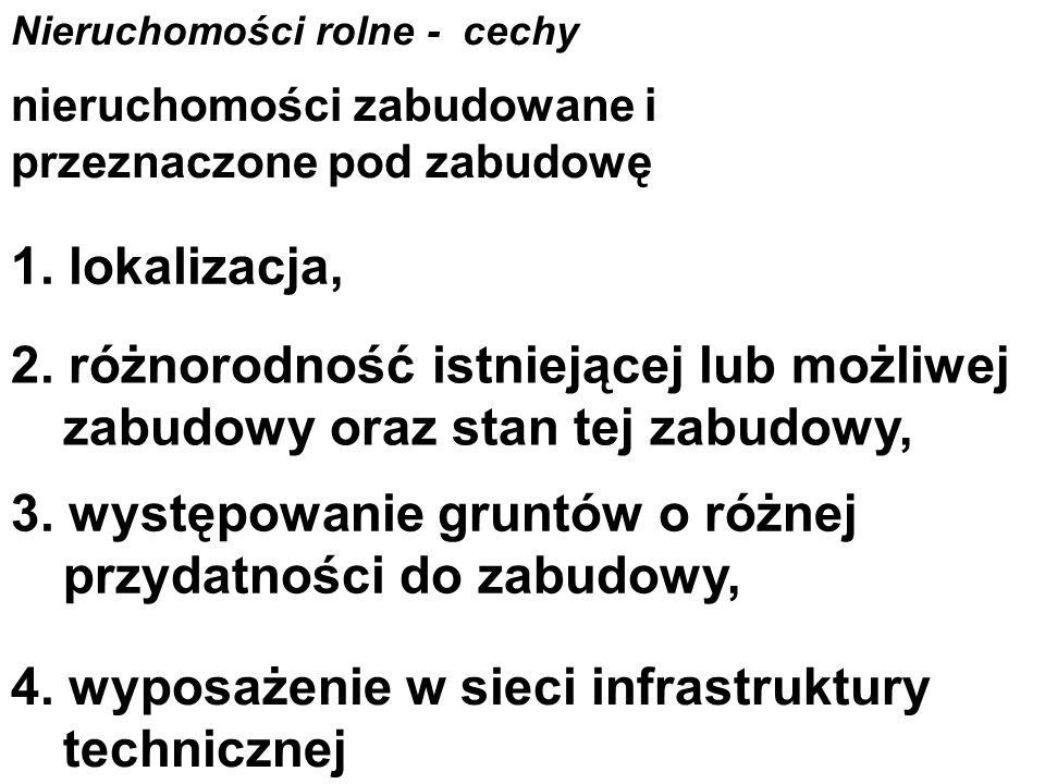 Nieruchomości rolne - cechy 1.
