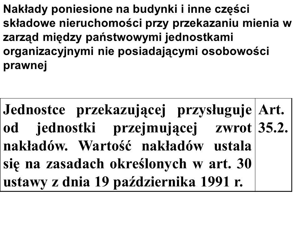 G Dotychczasowemu użytkownikowi przysługuje odszkodowanie ustalone na zasadach art. 30 ust. 2 ustawy z dnia 19 października 1991 r. Art. 16.4. Części