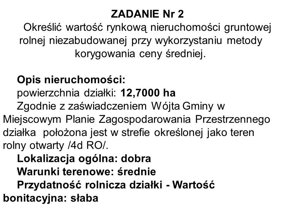 Metoda wskaźników szacunkowych gruntów.9.