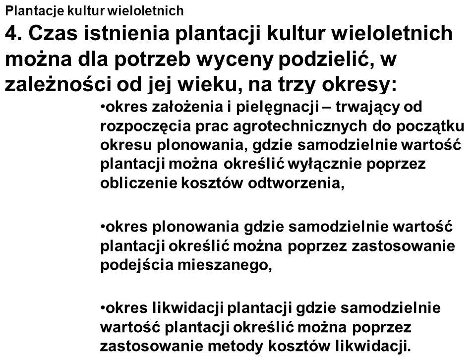 Plantacje kultur wieloletnich 3. W przypadku gdy przypisy szczególne tego wymagają lub zastosowanie wyżej wymienionych podejść jest niemożliwe określa
