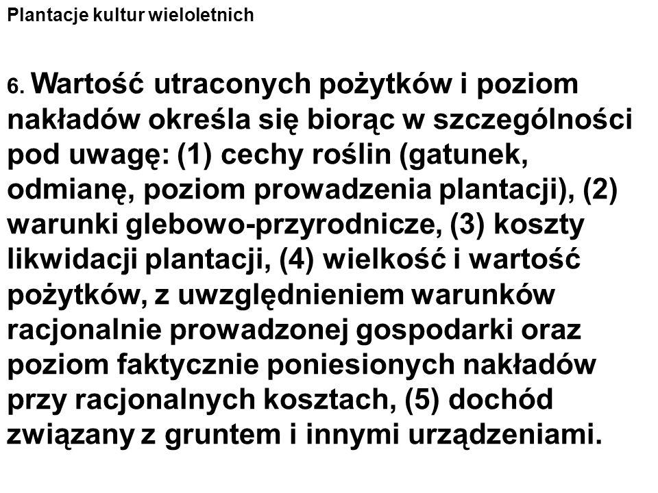 Plantacje kultur wieloletnich 6.