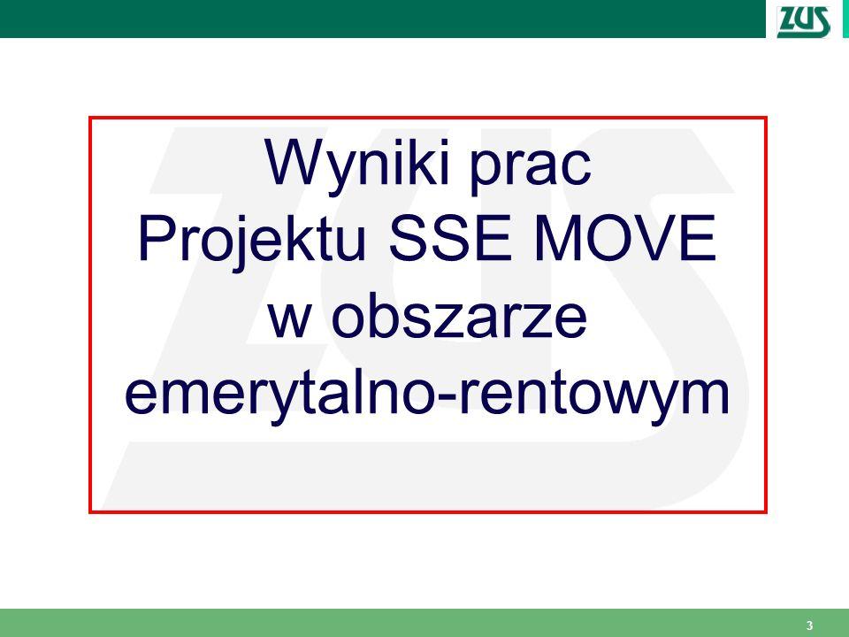 3 Wyniki prac Projektu SSE MOVE w obszarze emerytalno-rentowym