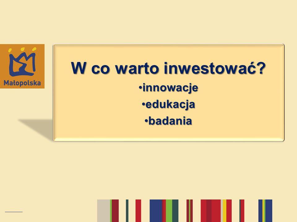 W co warto inwestować? innowacjeinnowacje edukacjaedukacja badaniabadania