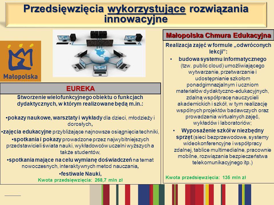 Przedsięwzięcia wykorzystujące rozwiązania innowacyjne EUREKA Realizacja zajęć w formule odwróconych lekcji: budowa systemu informatycznego (tzw. publ