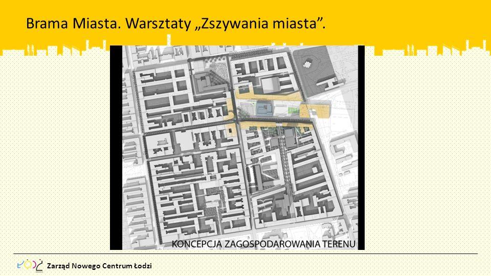 Zarząd Nowego Centrum Łodzi Brama Miasta. Warsztaty Zszywania miasta.