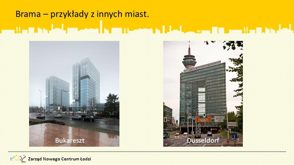 Zarząd Nowego Centrum Łodzi Brama – przykłady z innych miast. Bukareszt Dusseldorf