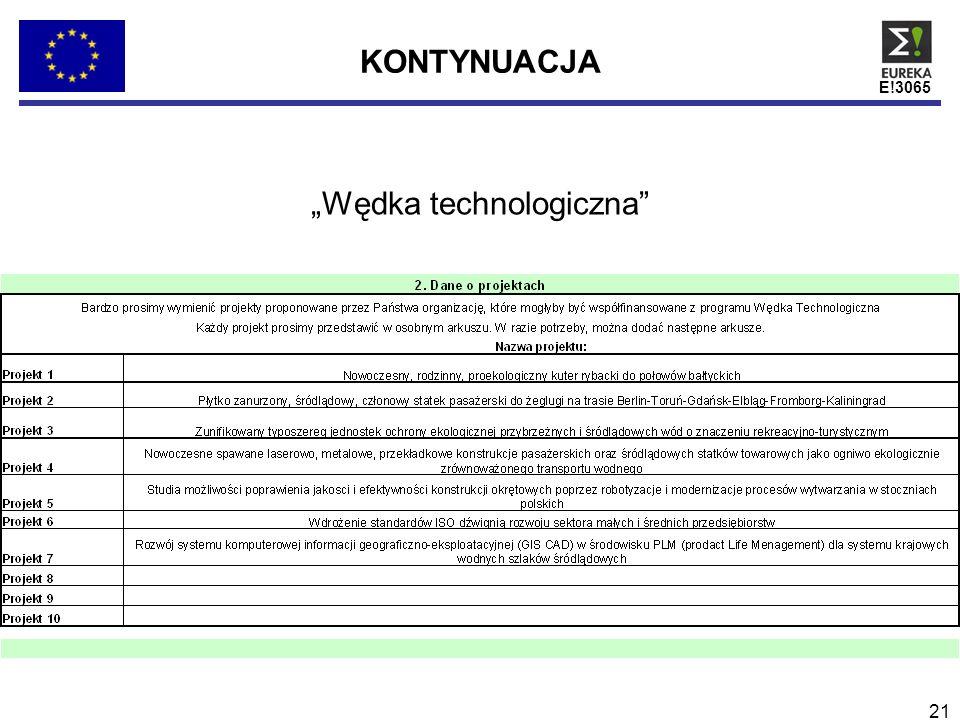 E!3065 21 Wędka technologiczna KONTYNUACJA