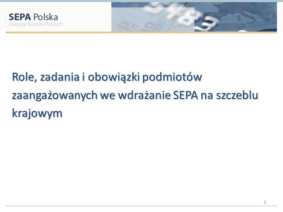 Role, zadania i obowiązki podmiotów zaangażowanych we wdrażanie SEPA na szczeblu krajowym 6