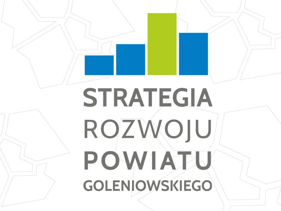 Obowiązująca Strategia Rozwoju Powiatu Goleniowskiego na lata 2008-2013 Nowoczesny i bezpieczny Powiat, w którym mieszkańcy zaspokoją swoje potrzeby oraz mogą rozwijać aspiracje zawodowe i intelektualne, uzdolnienia, a także dbać o swoje zdrowie i rozwój fizyczny Wizja