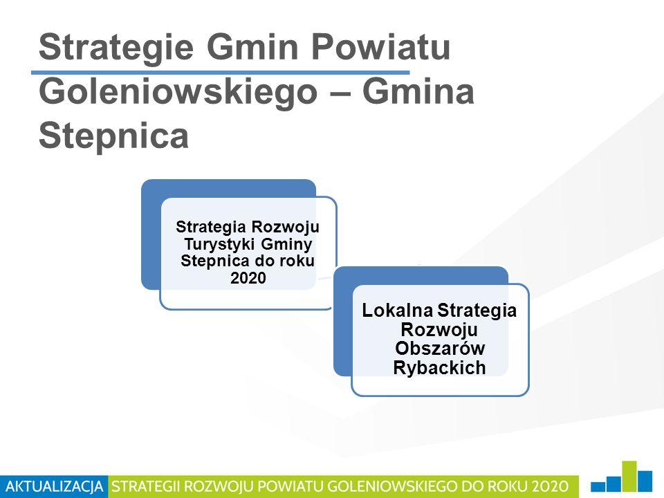 Strategie Gmin Powiatu Goleniowskiego – Gmina Stepnica Strategia Rozwoju Turystyki Gminy Stepnica do roku 2020 Lokalna Strategia Rozwoju Obszarów Ryba