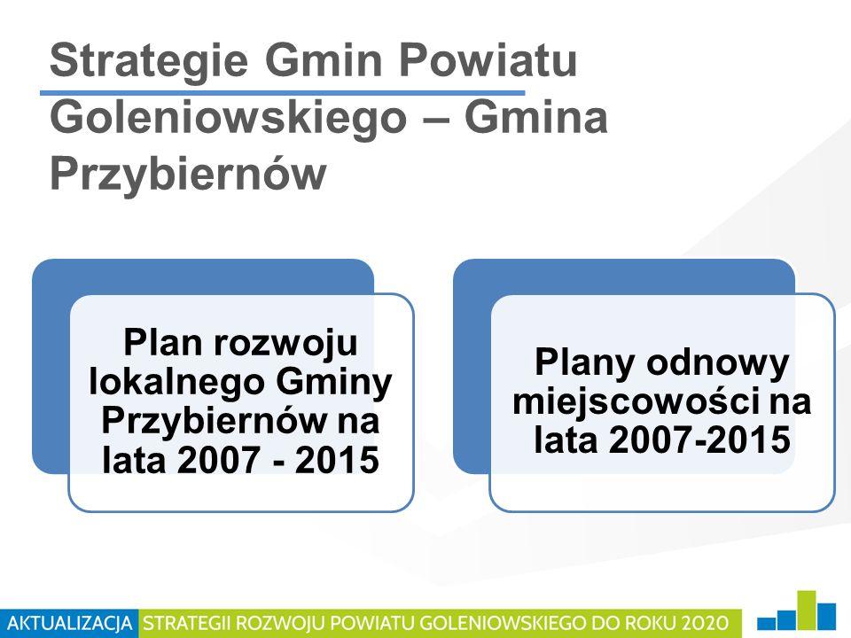 Strategie Gmin Powiatu Goleniowskiego – Gmina Przybiernów Plan rozwoju lokalnego Gminy Przybiernów na lata 2007 - 2015 Plany odnowy miejscowości na la