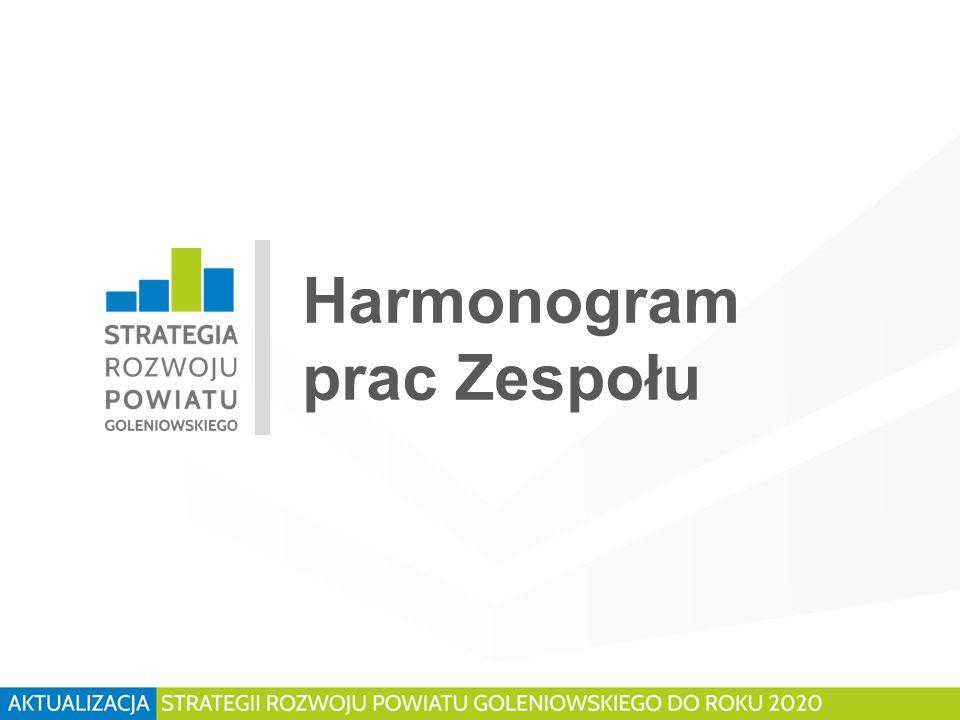 Harmonogram prac Zespołu