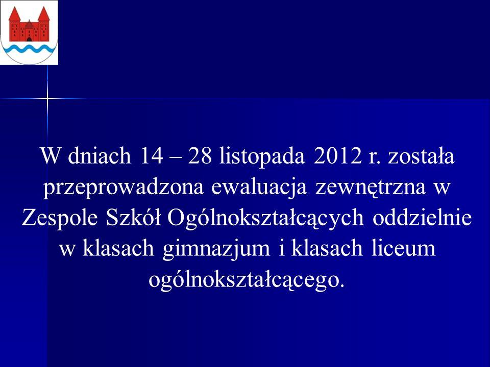 W dniach 14 – 28 listopada 2012 r.