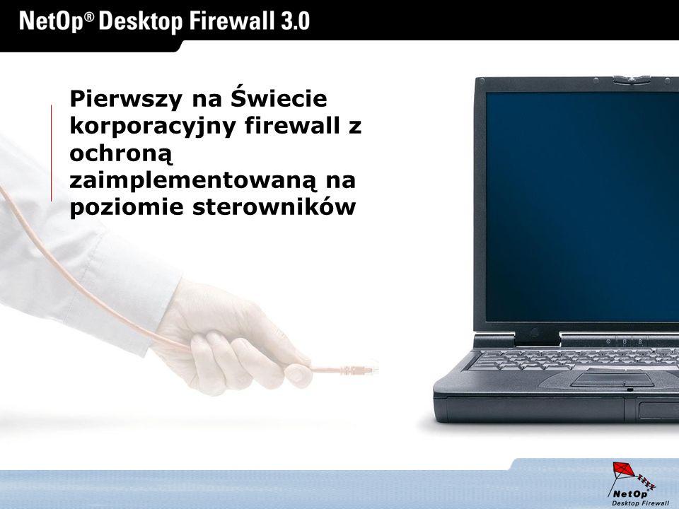 www.netop.pl a Pierwszy na Świecie korporacyjny firewall z ochroną zaimplementowaną na poziomie sterowników