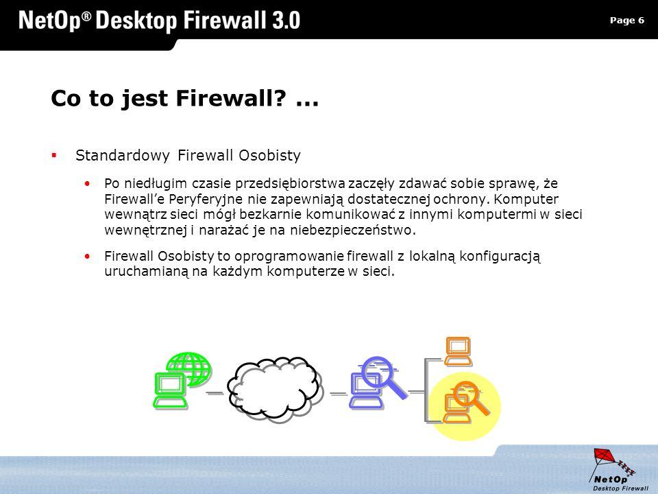 Page 6 www.netop.pl a Co to jest Firewall?... Standardowy Firewall Osobisty Po niedługim czasie przedsiębiorstwa zaczęły zdawać sobie sprawę, że Firew