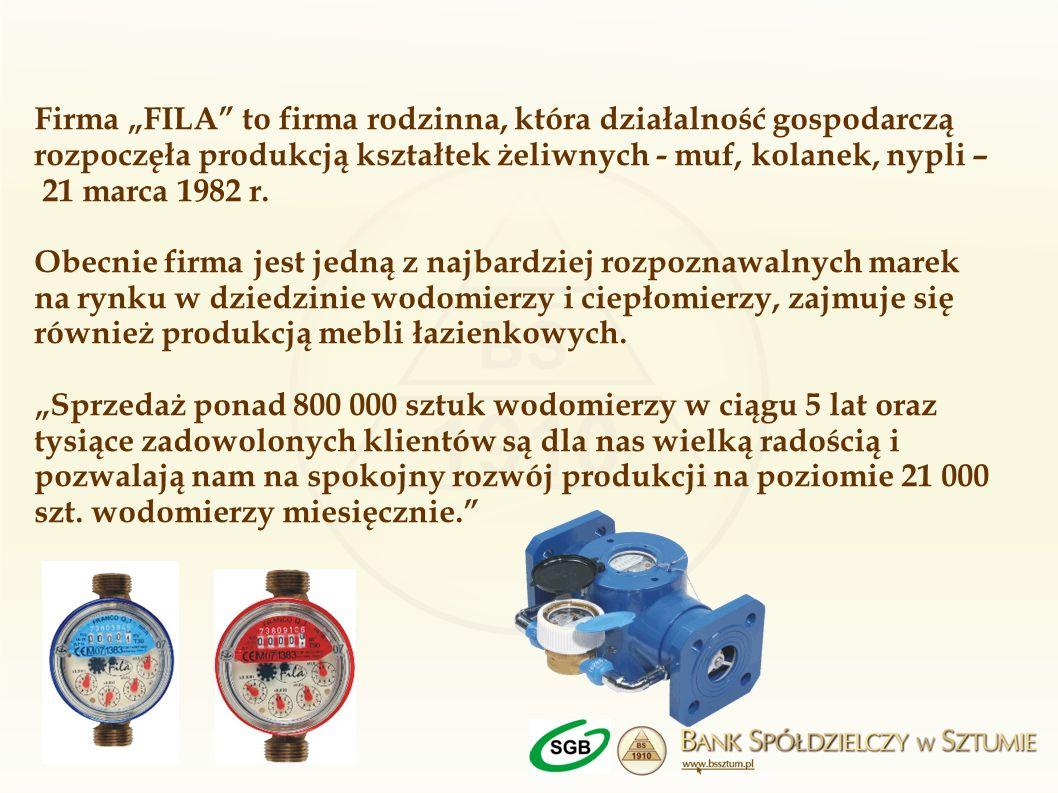 Firma FILA to firma rodzinna, która działalność gospodarczą rozpoczęła produkcją kształtek żeliwnych - muf, kolanek, nypli – 21 marca 1982 r. Obecnie