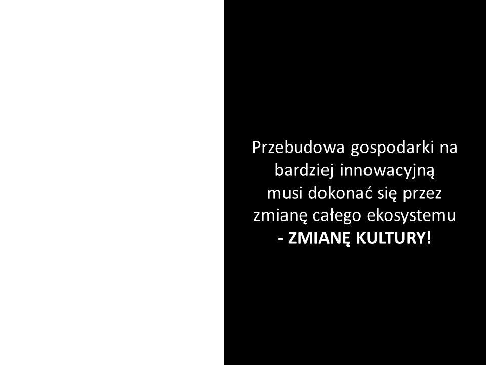 Przebudowa gospodarki na bardziej innowacyjną musi dokonać się przez zmianę całego ekosystemu - ZMIANĘ KULTURY!