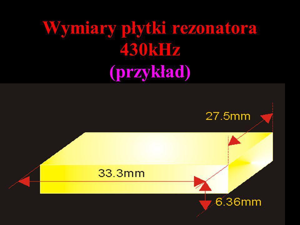 Wymiary płytki rezonatora 430kHz (przykład)
