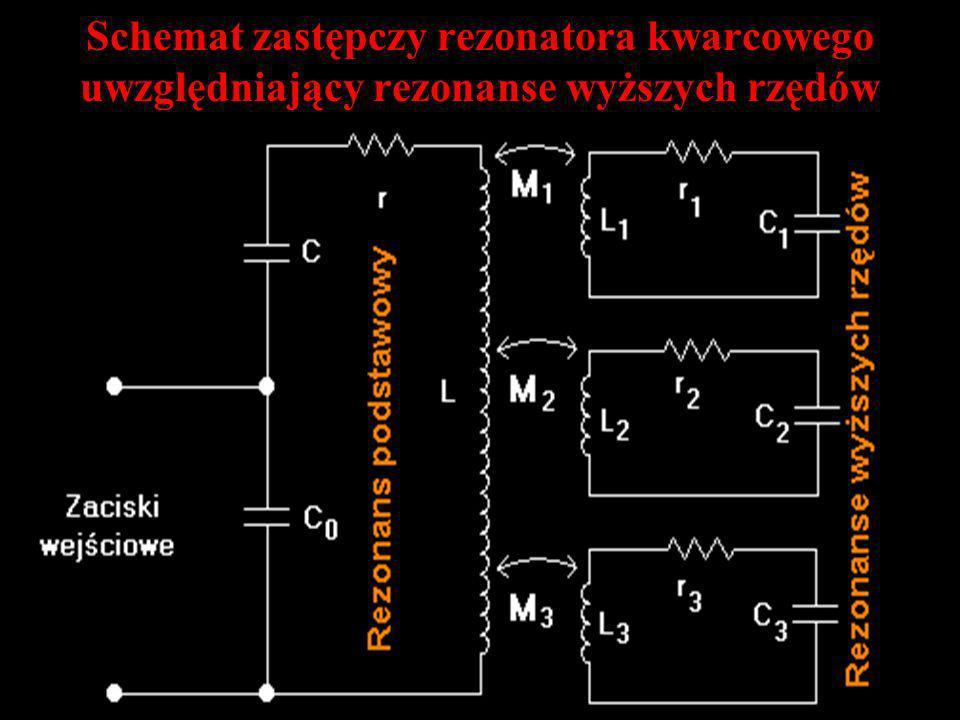 Schemat zastępczy rezonatora kwarcowego uwzględniający rezonanse wyższych rzędów