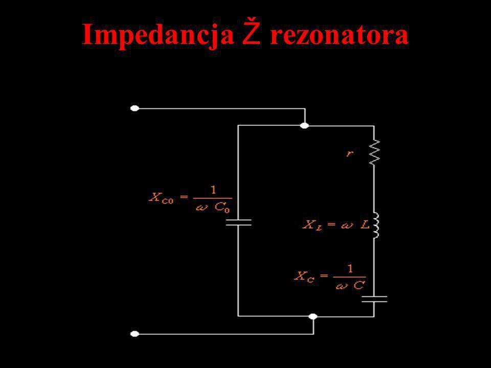 Impedancja Ž rezonatora
