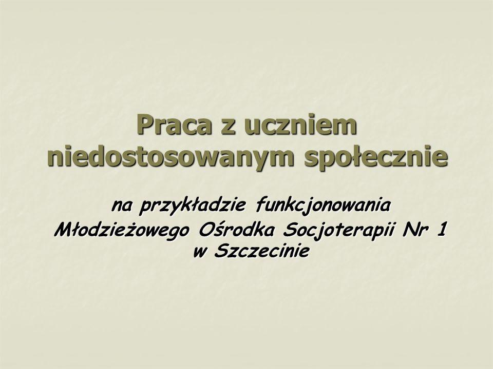 Praca z uczniem niedostosowanym społecznie na przykładzie funkcjonowania Młodzieżowego Ośrodka Socjoterapii Nr 1 w Szczecinie