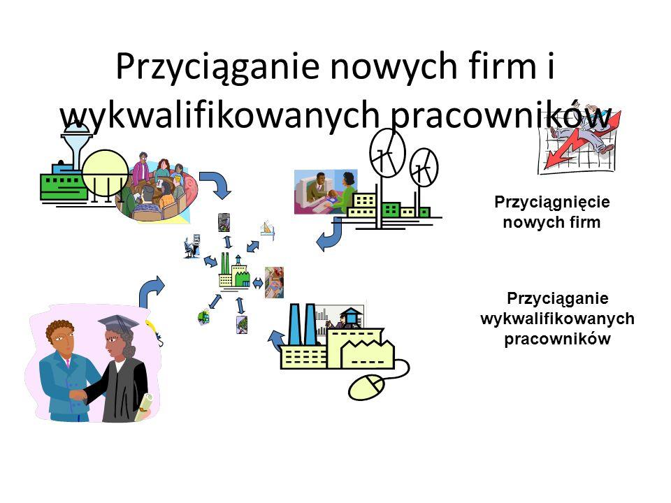 Przyciągnięcie nowych firm Przyciąganie wykwalifikowanych pracowników Przyciąganie nowych firm i wykwalifikowanych pracowników