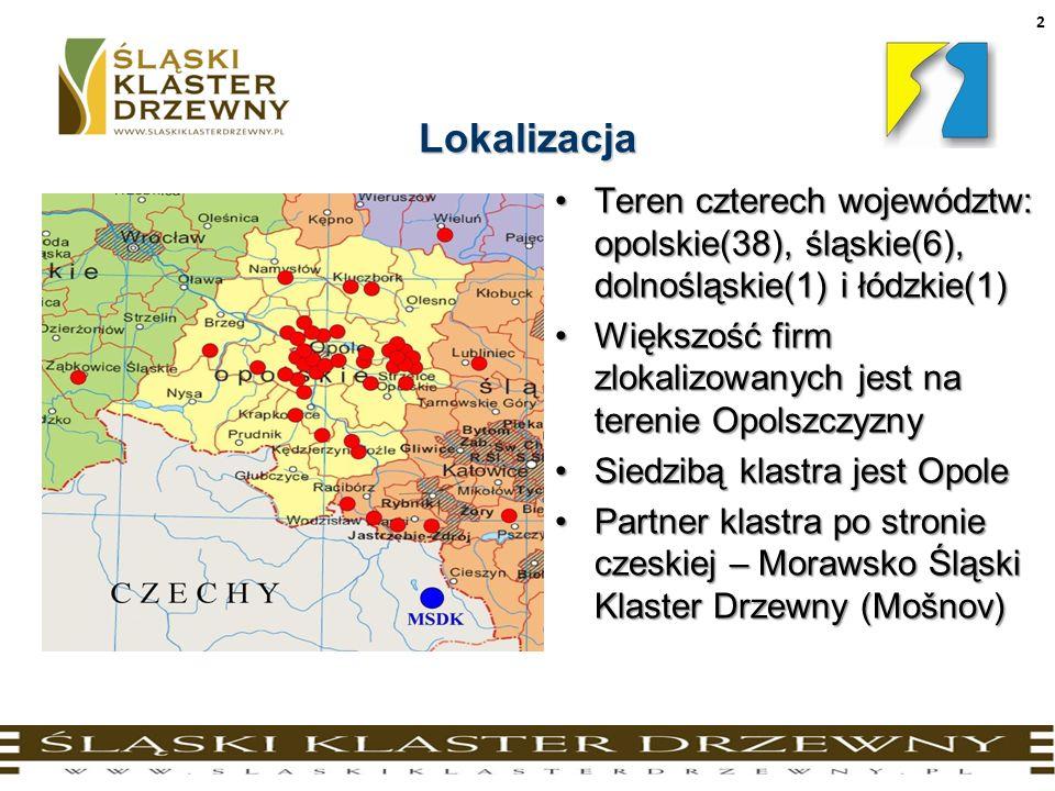 2Lokalizacja Teren czterech województw: opolskie(38), śląskie(6), dolnośląskie(1) i łódzkie(1)Teren czterech województw: opolskie(38), śląskie(6), dol