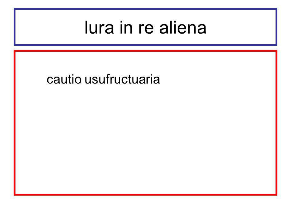 Iura in re aliena cautio usufructuaria