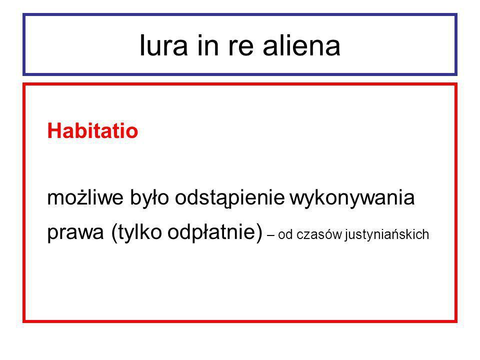 Iura in re aliena Operae servorum et animalium. wykonywanie można było zawsze odstąpić (odpłatnie)
