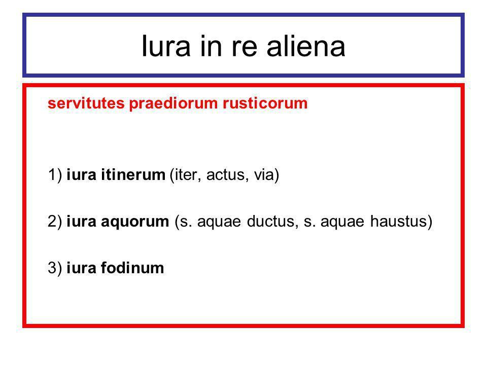 Iura in re aliena servitutes praediorum urbanorum 1.