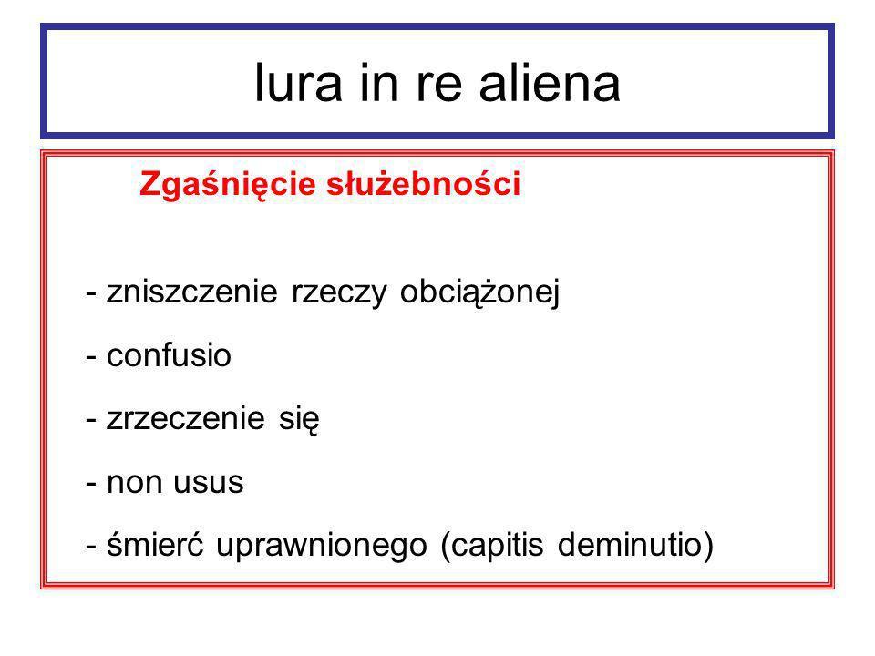 Iura in re aliena Służebności – ochrona - actio confessoria (vindicatio servitutis) - interdicta