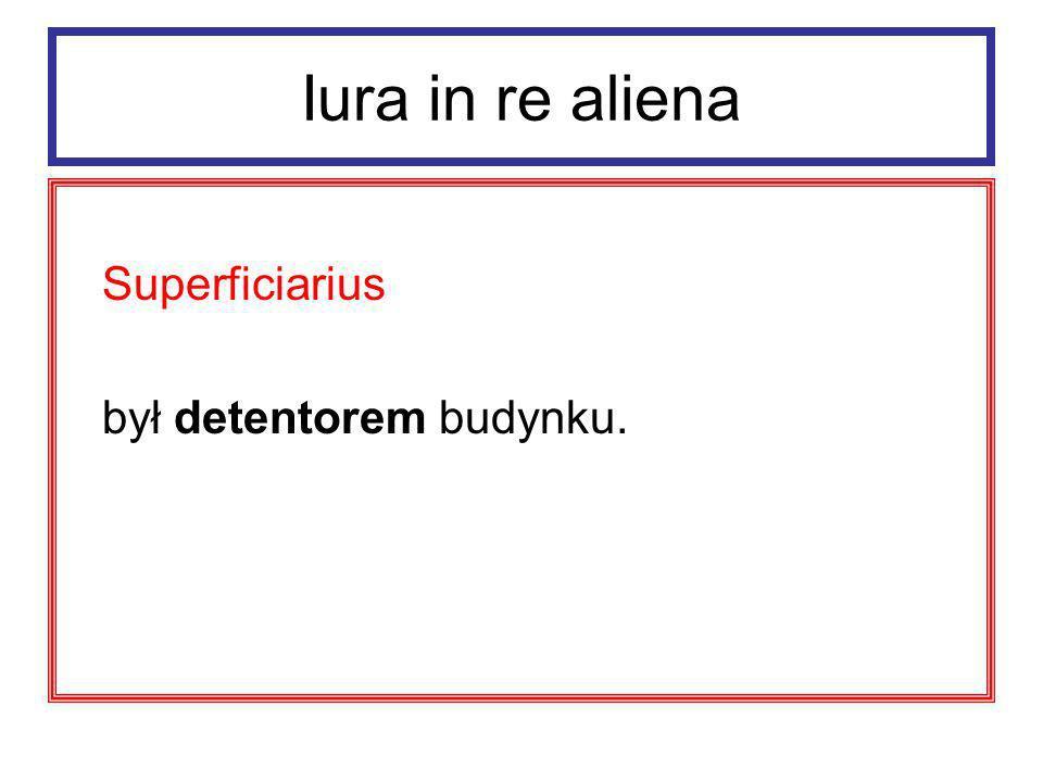Iura in re aliena Superficies prawo dziedziczne i zbywalne.