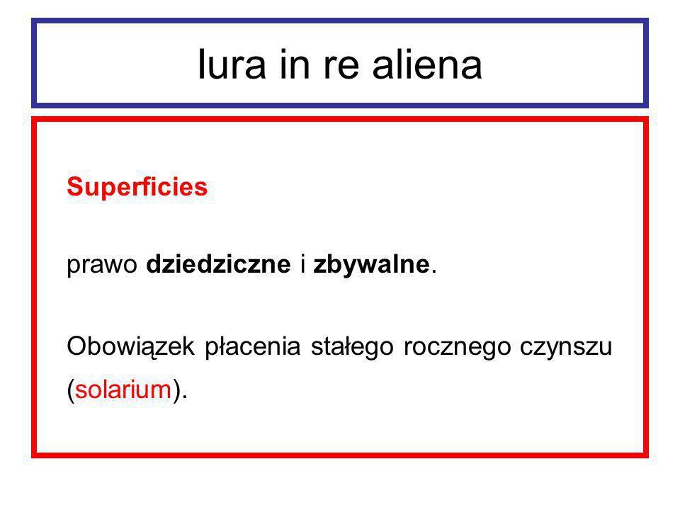 Iura in re aliena Superficies – ochrona 1. interdictum de superficiebus 2. actio de superficie